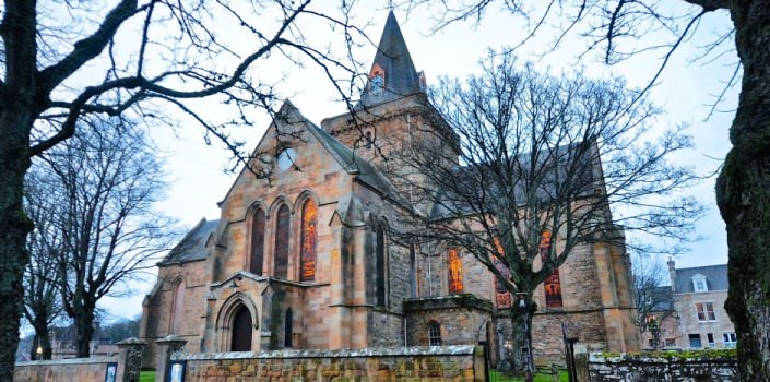 Dornoch Cathedral in Winter