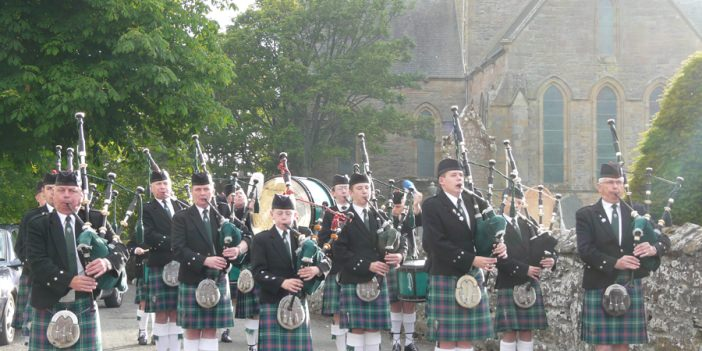 Dornoch Pipe Band and Cathedral